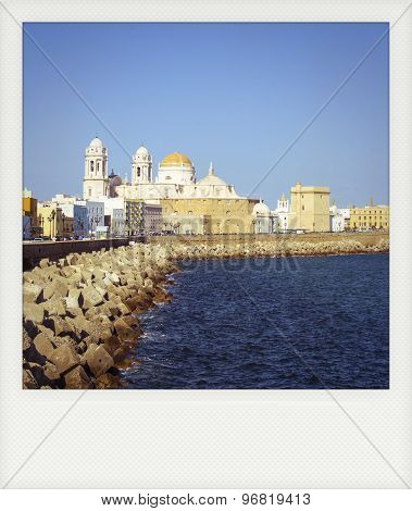 Instant Photo Of Cadiz, In Southern Spain, Andalusia.