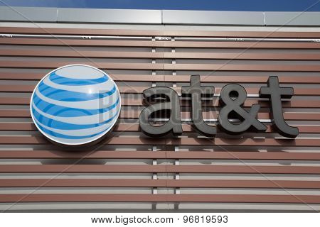 JACKSONVILLE, FLORIDA, USA - JULY 19, 2015: An AT&T Mobility sign in Jacksonville. AT&T Mobility is the second largest wireless telecommunications provider in the United States and Puerto Rico.
