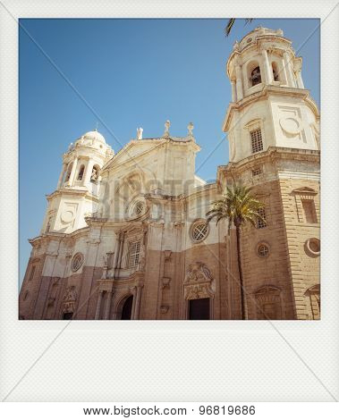 Instant Photo Of Cathedral Of Cadiz, Andalusia, Spain