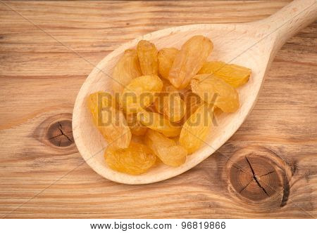 Yellow raisins.