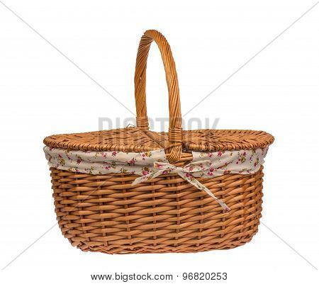 Picnic basket isolated.