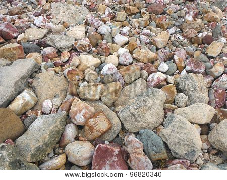 Colourful stones of Fiji