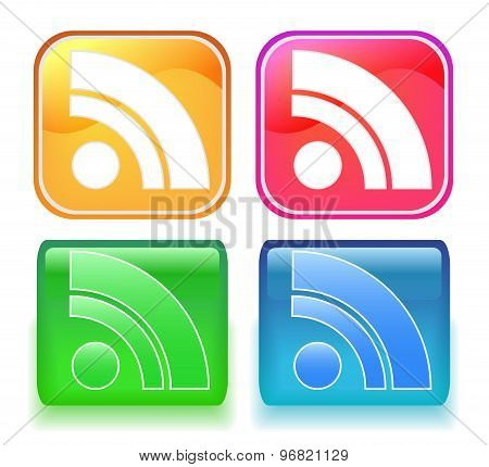 Rss vector icon isolated on white background.