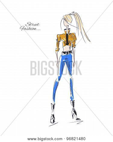 Fashion Model Street