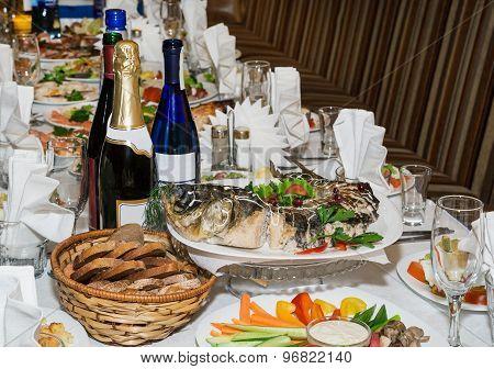 Festive Table. Gefilte Fish