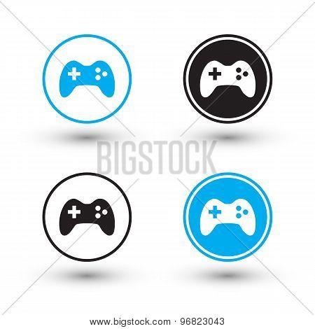 Joystick icons. Joystick buttons.