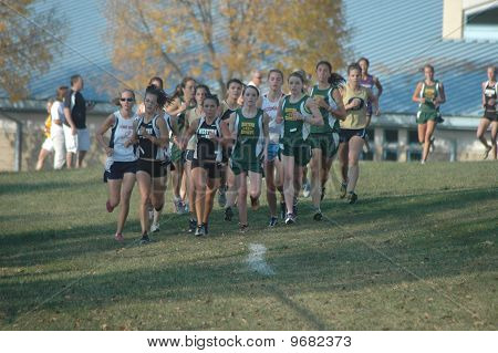 High School Girls Cross Country Race