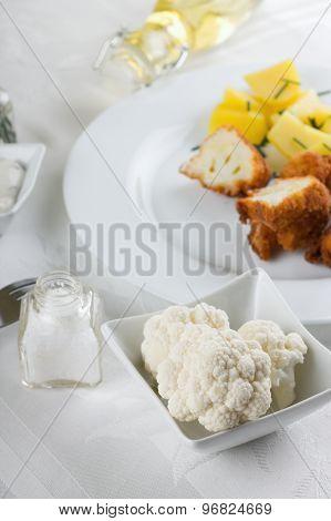 Raw Pieces Of Cauliflower