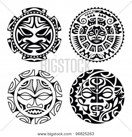 Set Of Polynesian Tattoo