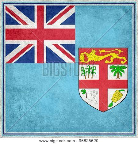 National flag of Fiji - Vintage square version