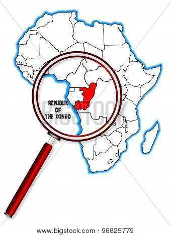 Republic Of The Congo Under A Magnifying Glass