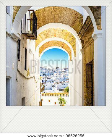 Instant Photo Of Vejer De La Frontera, Andalusia, Spain.