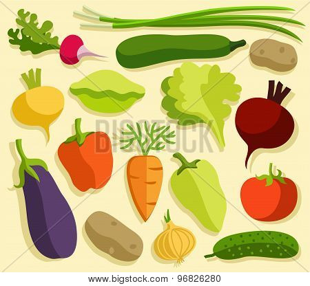 Vegetables, Colored