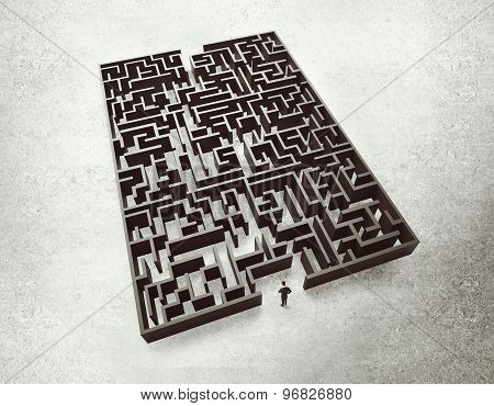 Businessman And Labyrinth