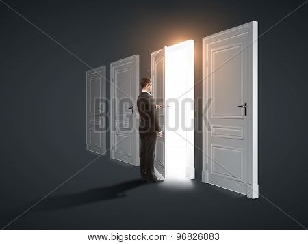 Three Closed Doors