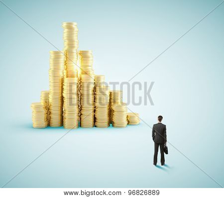 Businessman And  Coin City