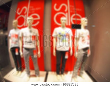 Defocused And Blurry Four Male Mannequin