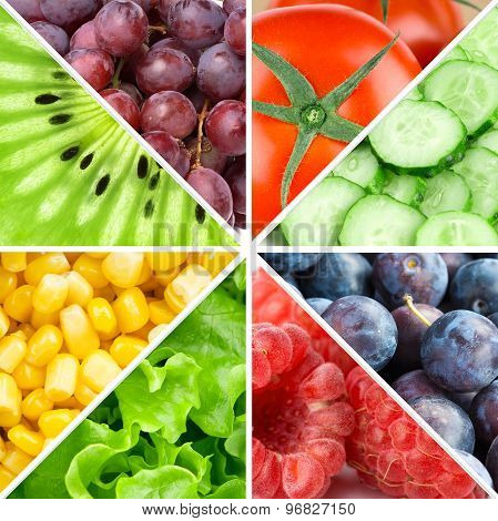 Fruits, Berries And Vegetables