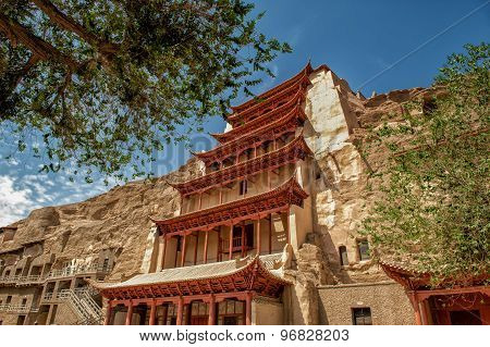Mogao caves at Dunhuang, China
