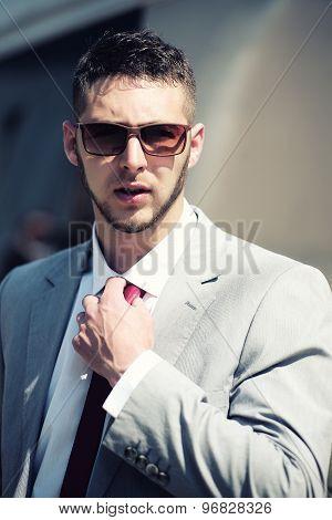 Handsome Businessman In Jacket
