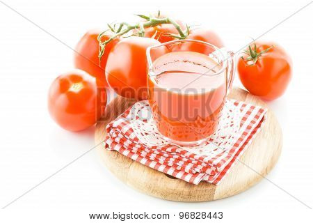 Jug With Tomato Juice