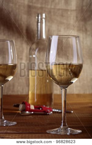 Bottle Bocals And Corkscrew