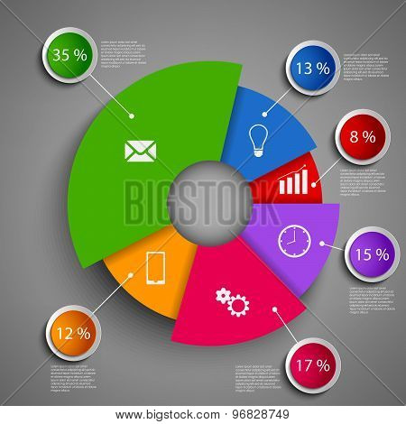 Abstract Round Info Graphic Design Template