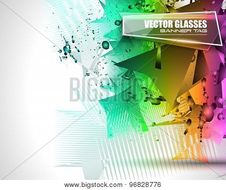 Abstract Background with Shapes Explosion For Cover, Flyers template, Brochure Layouts, Prnted Material, Business Cards, Magazine Page Patterns.