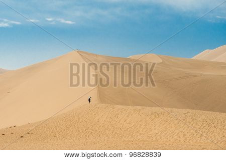 Sand dunes at Dunhuang, China