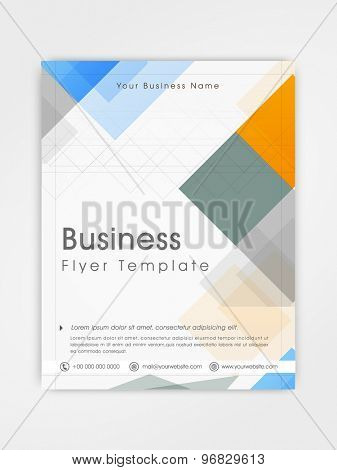Abstract business flyer, template or brochure design for professional presentation or corporate purpose.