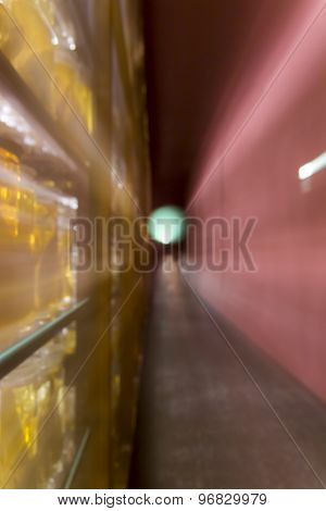 Motion Blurred Background With Bokeh, Long Exposure With Zoom Effect