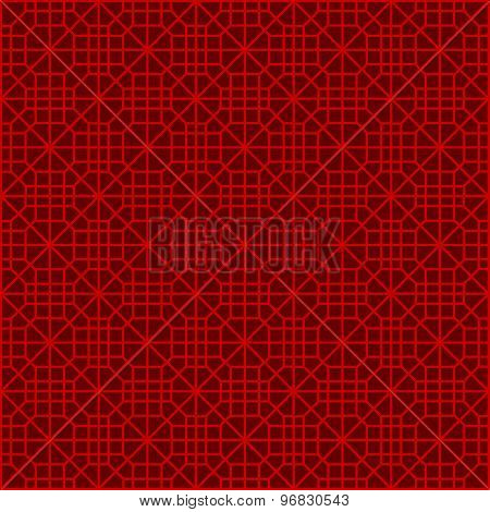 Seamless Chinese window tracery polygon square geometry pattern background.