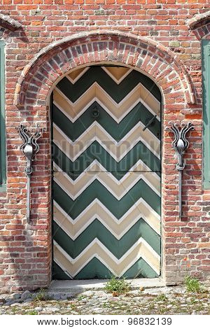 Traditional Door In Sankt Peter Ording