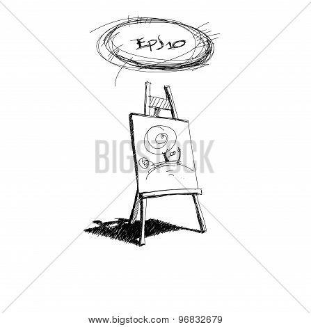 sketch easel