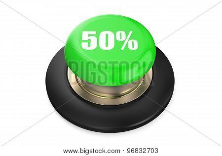 50 Percent Discount Green Button