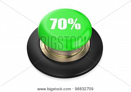 70 Percent Discount Green Button