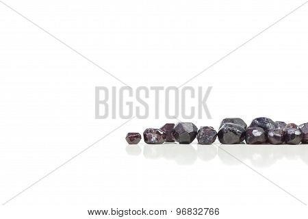 Red garnet stones