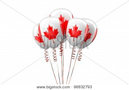 Canada Patriotic Balloons,  Holyday Concept