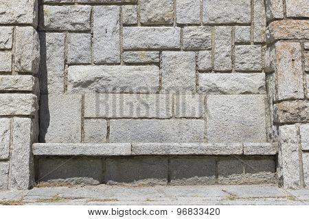 Grey rock bench