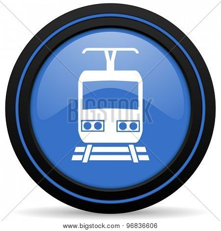 train icon public transport sign