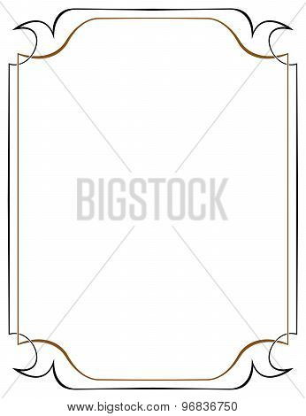 Vector Brown Frame On A White Background
