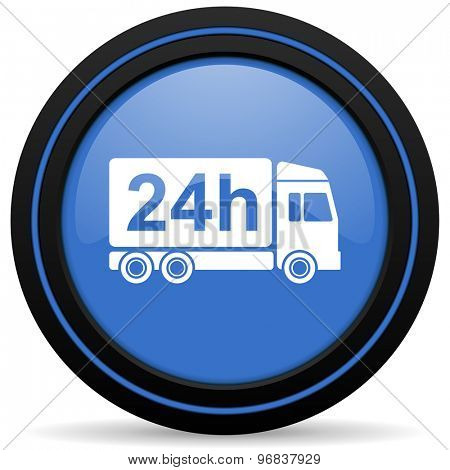 delivery icon 24h shipping sign