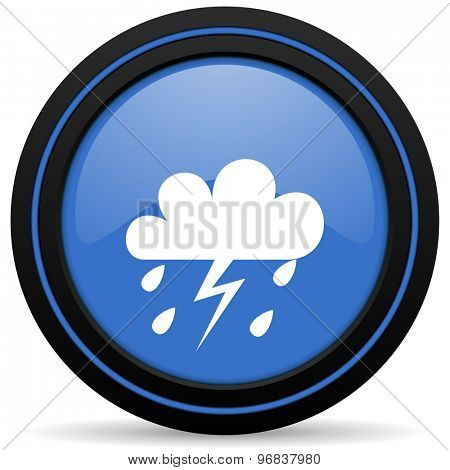 storm icon weather forecast sign
