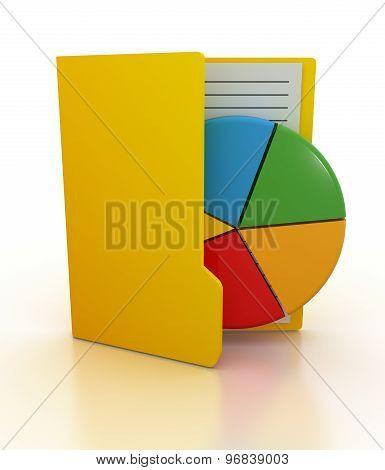 Folder And Pie Chart