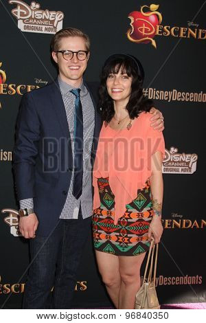 LOS ANGELES - JUL 24:  Lucas Grabeel, Emily Morris at the