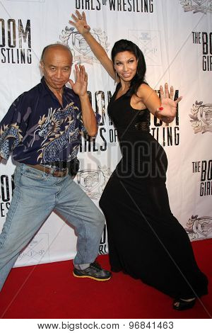 LOS ANGELES - JUL 23:  Grand Master Eric Lee, Crystal Santos at the