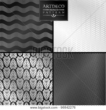 Art Deco seamless vintage wallpaper pattern