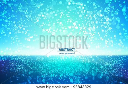 Abstract water colorful bokeh background easy editable