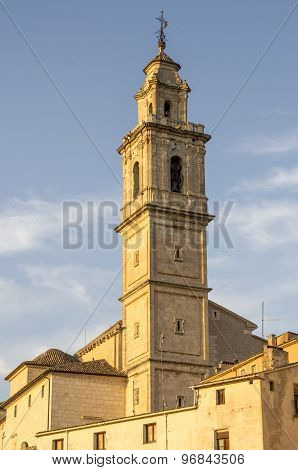 Beautifull Bell Tower In Bocairent, Valencia, Spain.