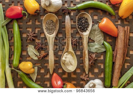 Veggies And Spices.